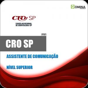 Capa CRO SP 2020 Assistente de Comunicação