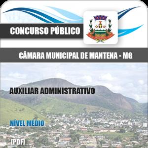 Apostila Câmara Mantena MG 2020 Auxiliar Administrativo