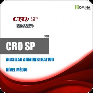 Capa CRO SP 2020 Auxiliar Administrativo