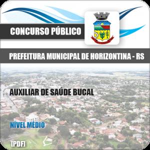 Apostila Horizontina RS 2020 Auxiliar de Saúde Bucal