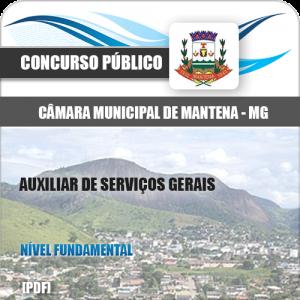 Apostila Câmara Mantena MG 2020 Auxiliar Serviços Gerais