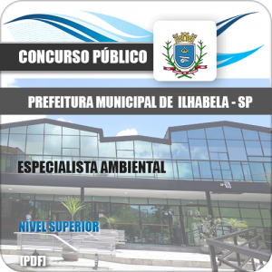 Apostila Prefeitura Ilhabela SP 2020 Especialista Ambiental