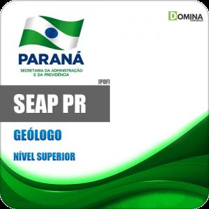 Apostila Concurso Público DRH SEAP PR 2020 Geólogo