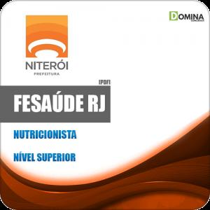 Apostila Concurso FeSaúde Niterói RJ 2020 Nutricionista