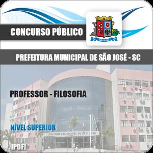 Apostila Prefeitura São José SC 2020 Professor Filosofia