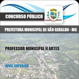 Apostila São Geraldo MG 2020 Professor Municipal II Artes