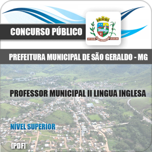 Apostila São Geraldo MG 2020 Professor II Língua Inglesa