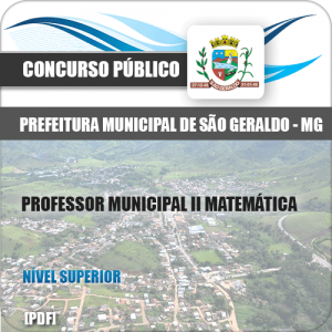 Apostila São Geraldo MG 2020 Professor II Matemática