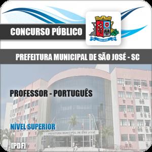 Apostila Prefeitura São José SC 2020 Professor Português