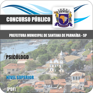 Apostila Prefeitura Santana de Parnaíba SP 2020 Psicólogo
