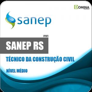 Apostila Sanep Pelotas RS 2020 Técnico da Construção Civil