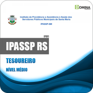 Apostila Concurso IPASSP Santa Maria RS 2020 Tesoureiro