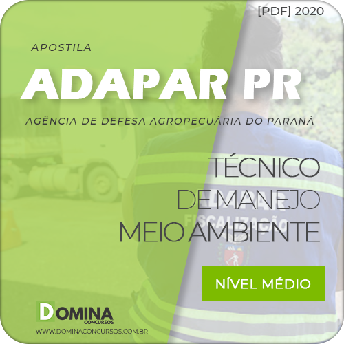 Capa Adapar PR 2020 Técnico de Manejo Meio Ambiente