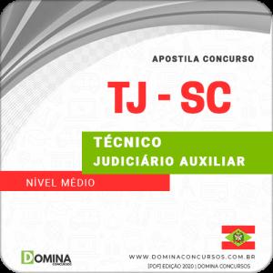 Apostila Concurso TJ SC 2020 Técnico Judiciário Auxiliar