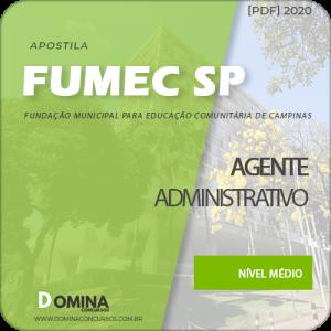 Apostila Fumec Campinas SP 2020 Agente Administrativo