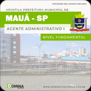 Apostila Prefeitura Mauá SP 2020 Agente Administrativo I