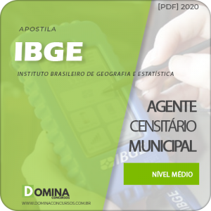 Download Apostila IBGE 2020 Agente Censitário Municipal ACM