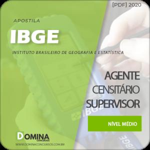 Baixar Apostila IBGE 2020 Agente Censitário Supervisor