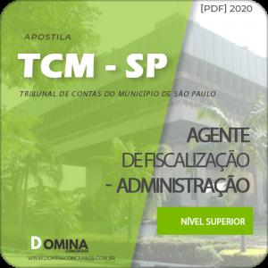 Apostila TCM SP 2020 Agente Fiscalização Administração