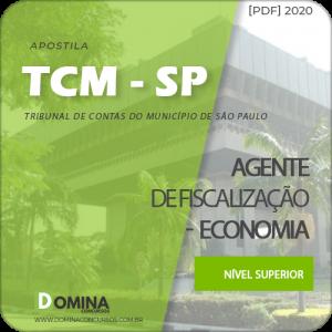 Apostila TCM SP 2020 Agente de Fiscalização Economia