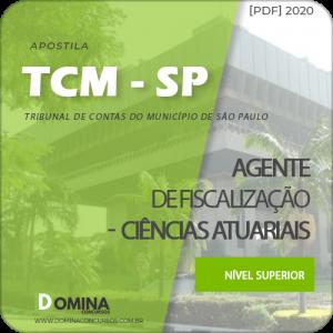 Download Apostila TCM SP 2020 Agente Fiscalização Ciências Atuariais