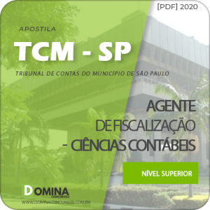 Apostila TCM SP 2020 Agente Fisc Ciências Contábeis