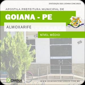 Apostila Concurso Câmara Goiana PE 2020 Almoxarife