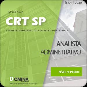 Comprar Apostila Concurso CRT-SP 2020 Analista Administrativo
