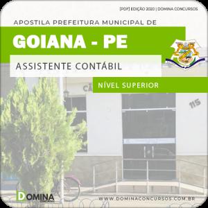 Apostila Câmara Goiana PE 2020 Assistente Contábil