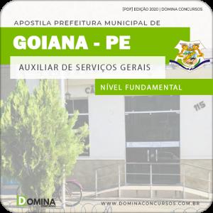 Apostila Câmara Goiana PE 2020 Auxiliar de Serviços Gerais
