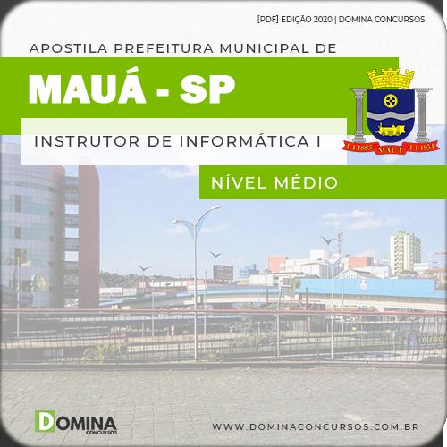 Download capa Apostila Concurso Mauá SP 2020 Instrutor de Informática I