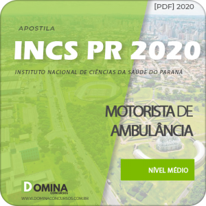 Apostila Concurso INCS PR 2020 Motorista de Ambulância Download