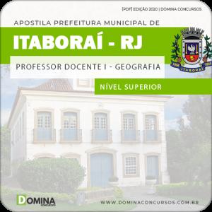 Apostila Prefeitura Itaboraí RJ 2020 Professor de Geografia