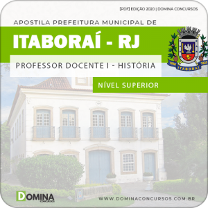 Apostila Prefeitura Itaboraí RJ 2020 Professor de História