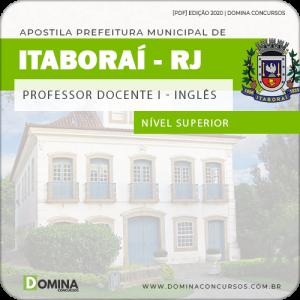 Apostila Prefeitura Itaboraí RJ 2020 Professor de Inglês