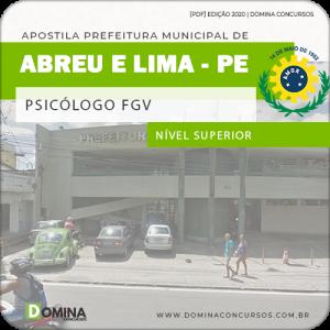 Apostila Concurso Abreu e Lima PE 2020 Psicólogo FGV