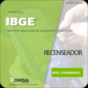 Download Nova Apostila Concurso IBGE 2020 Recenseador Cebraspe