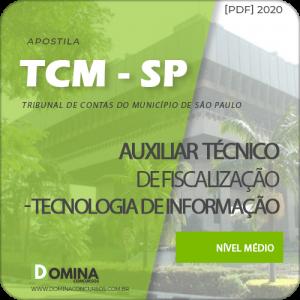 Download Apostila TCM SP 2020 Auxiliar Tecnologia da Informação