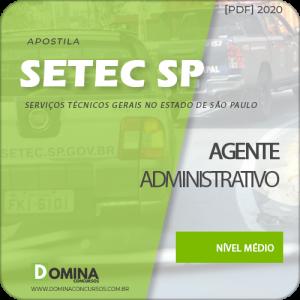 Apostila Concurso SETEC Campinas SP 2020 Agente Administrativo