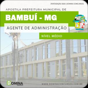 Apostila Pref Bambuí MG 2020 Agente de Administração