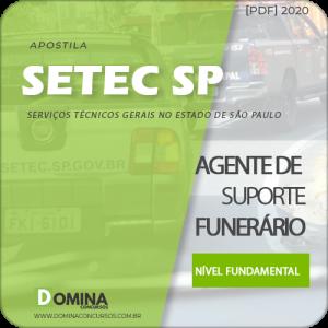 Apostila SETEC Campinas SP 2020 Agente de Suporte Funerário