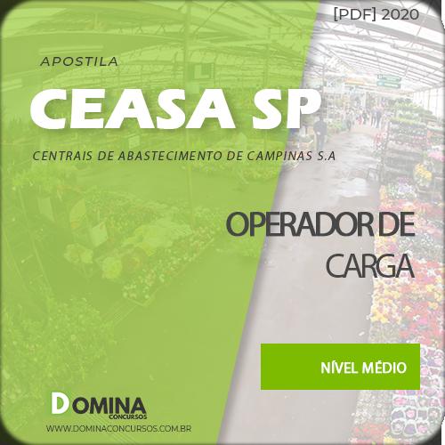 Apostila Concurso CEASA Campinas SP 2020 Operador de Carga
