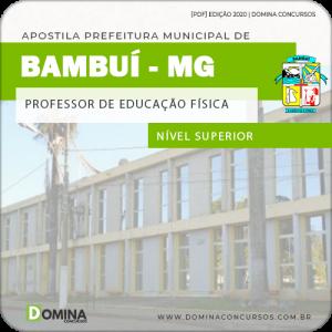 Apostila Pref Bambuí MG 2020 Professor Educação Física
