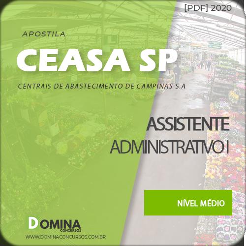 Apostila CEASA Campinas SP 2020 Assistente Administrativo I