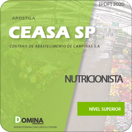 Apostila Concurso CEASA Campinas SP 2020 Nutricionista