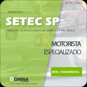 Apostila Concurso SETEC Campinas SP 2020 Motorista Especializado