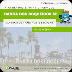 Apostila Barra Coqueiros SE 2020 Monitor de Transporte Escolar