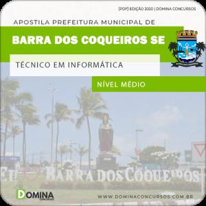 Apostila Barra Coqueiros SE 2020 Técnico em Informática