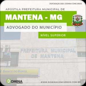 Apostila Concurso Pref Mantena MG 2020 Advogado Municipal