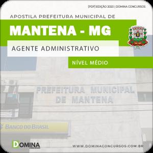 Apostila Concurso Pref Mantena MG 2020 Agente Administrativo